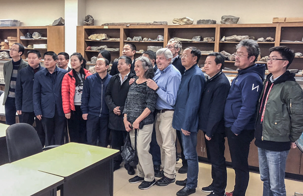 November's Anhui Province Delegation Earthquake Preparedness Conference (Xia Dengyun, Wang Chunlei, Da Jiulin, Zheng Shudong, Wang Xiaoming, Wang Jinjing, Ai Li, Cheng Bin, Cheng Yongpin, Wu Shoufa, Xu Shilu, Chen Shuo, Zhang Xuwen Wang Chenghua, Zhao Xuebing, Chen Yusen with Organizer GSOC Vice-President Sheila Alfsen, Dr. Scott Burns, Bill Burgel and Larry Kotan (not pictured).