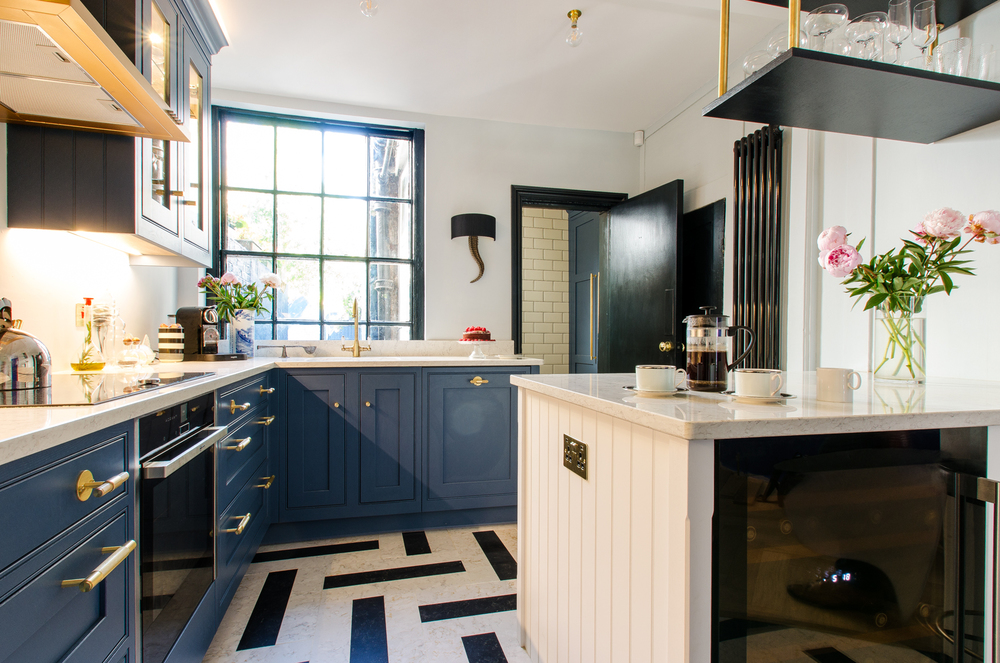 Painted Kitchen Blue, Canterbury