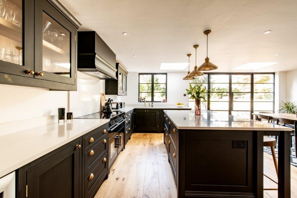 """We couldn't be happier with our new kitchen which is a great entertaining space and family room"""