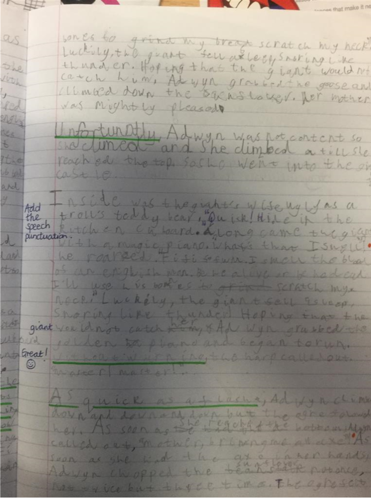 Jack chose this extract as it was a really exciting part of his story.