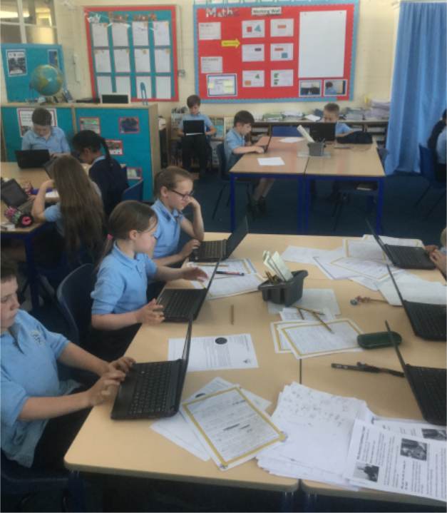 English:Before we write our reports on Howard Carter's excavations, Mr Rice gave us the task of writing a report about the fire service visit. This was a 'cold write', meaning no help was given. These tasks sound daunting, but are great for Mr Rice to assess what help we need next time. We were able to plan our work on laptops, which for some of us, helps us to focus even more.  -