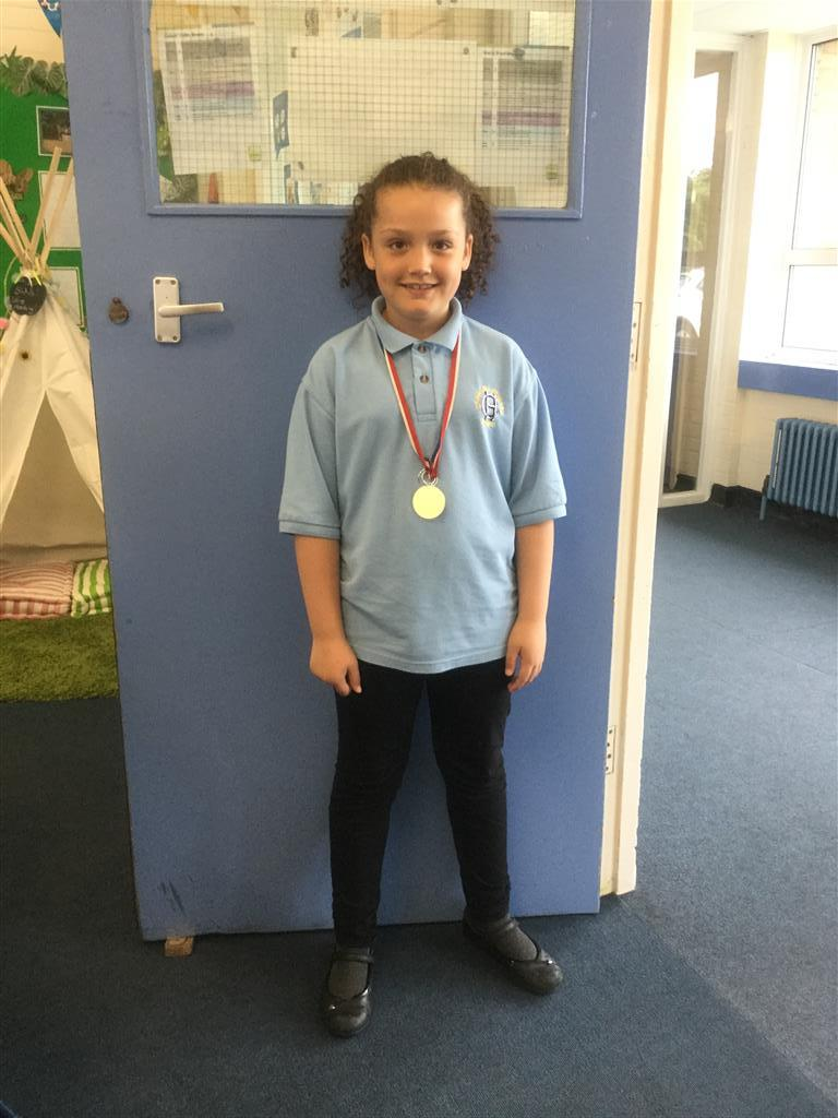 Our 'Champion of the Week' is Alannah for her wonderful positive attitude and effort at swimming this week. She overcame her fear of getting in at the deep end of the pool and gained her 25m badge. Well done Alannah! -