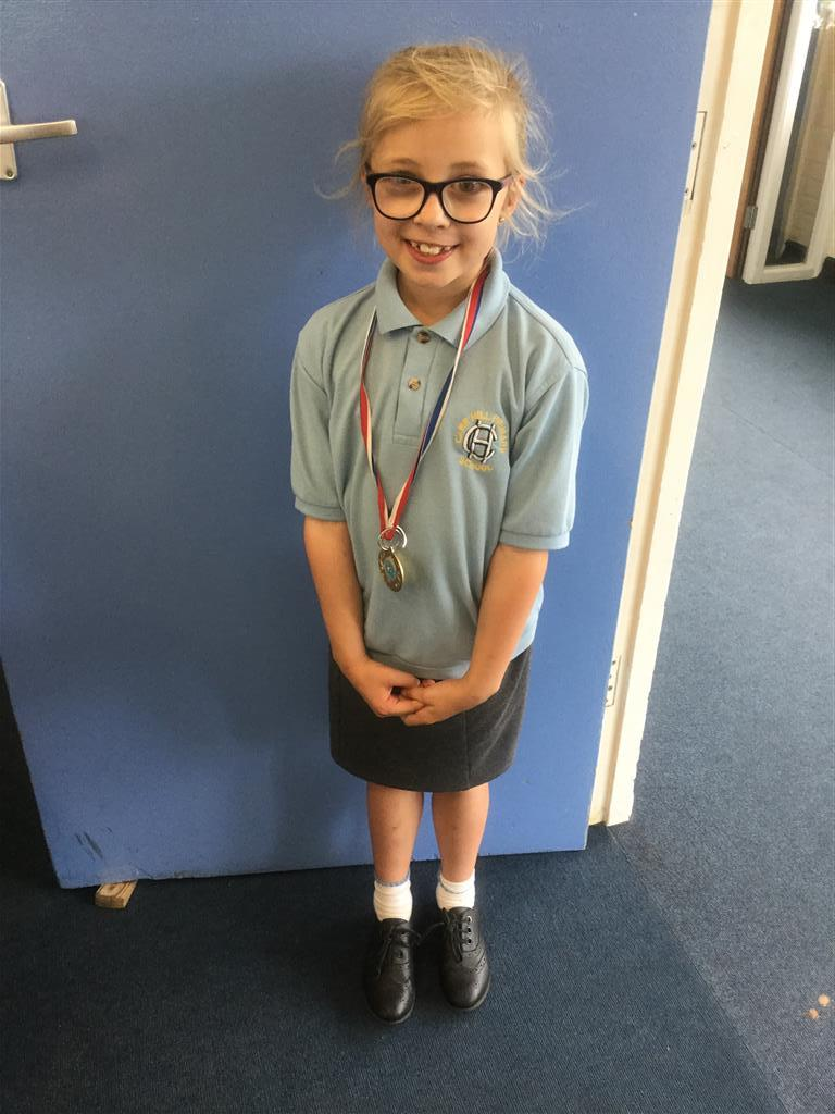 Our 'Champion of the Week' is Daisey for her positive attitude and good effort in lessons. Well done Daisey. -