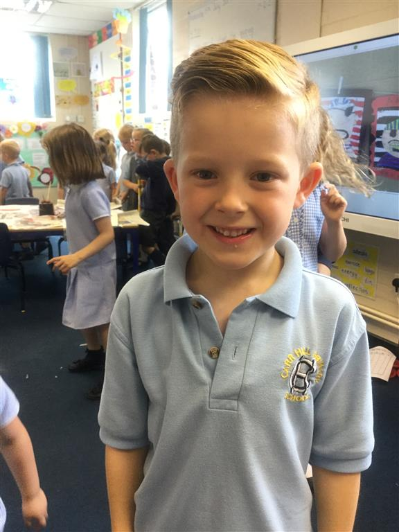 This week's Explorer of the Week is Bobby for excellent behaviour for learning, all of the time! Well done Bobby! -