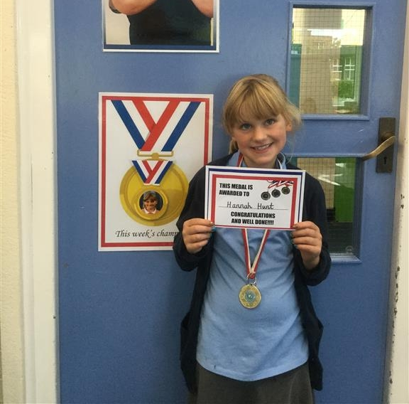 Our 'Champion of the Week' is Hannah for her consistent hard work and effort every lesson. She has tried very hard, listening to instructions carefully. Well done Hannah! -