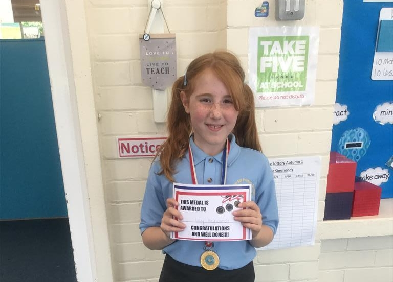 Lily is our 'Champion of the Week' for her continued hard work and effort every lesson. Keep up the positive attitude Lily! -