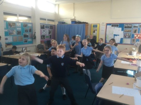 Dance sequence: We thought about 'our moves like Jagger' from our lunchtime disco area and then gathered similar movements from within the world of Bollywood. -