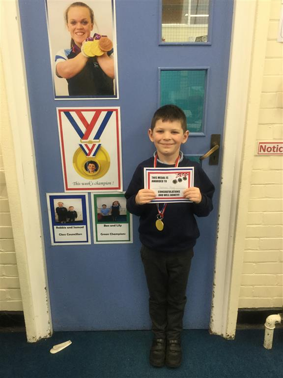 Our 'Champion of the Week' is Thomas who has shown a positive attitude in class when tackling new concepts which he doesn't always find easy.  He was very enthusiastic to start his 'Hot Task' and encouraged the rest of the class to follow his example of having a positive attitude. -