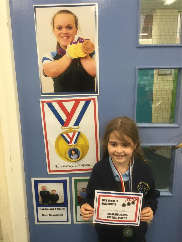 Our 'Champion of the Week' is Charlotte for her continued enthusiasm and positive attitude in lessons. She always approaches tasks with the aim of completing them to the best of her ability. Well done Charlotte for all of your hard work! Keep it up! -