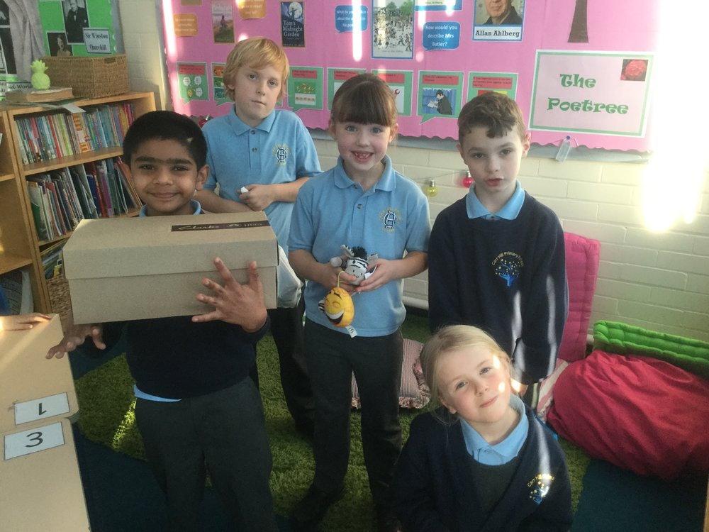 Thank you to everyone who contributed to 'Operation Christmas Child'. Pictured are Ancel, Tilly, Joseph, Kyla and Luke with their generous donations. -