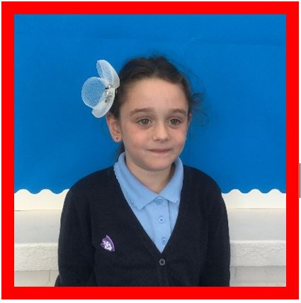 Champion of the weekDaisy Housego is a super role model because she never gives up and keeps trying hard! -
