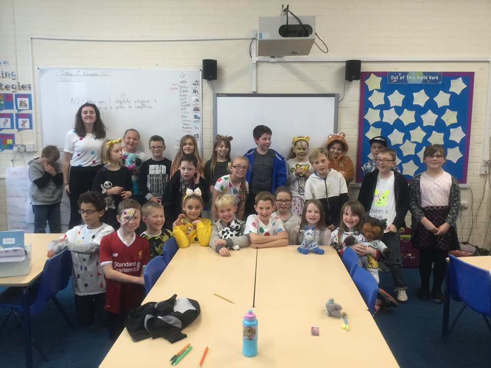 Finally, thank you for all your contributions towards Children in Need this Friday, the children looked great in their spotty outfits!! -