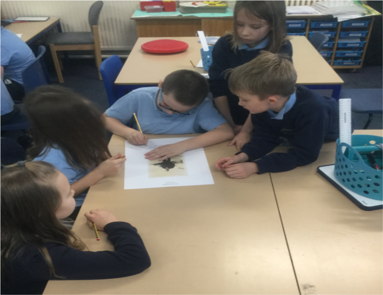 English: We continued to read King of the Cloud Forest by Michael Morpurgo. To help us understand the various character in more detail, we joined groups to help break down their thoughts, feelings. -