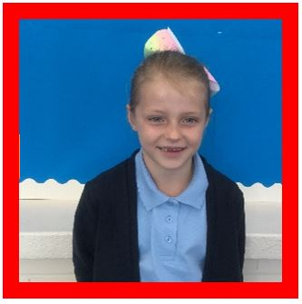 "Grace has been a super role model this week, returning to school with a fantastic ""can do"" approach to learning. A well-deserved champion -"