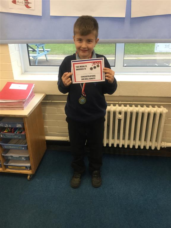 Our 'Champion of the Week' is Colby, who has listened attentively throughout the week and really worked hard when answering questions on a reading comprehension. Well done Colby! -