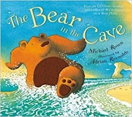 "Next week we will be reading another Michael Rosen story called ""The Bear in the Cave"". It is based on the bear in ""We're going on a bear hunt"" and explains what he gets up to on another trip out. -"