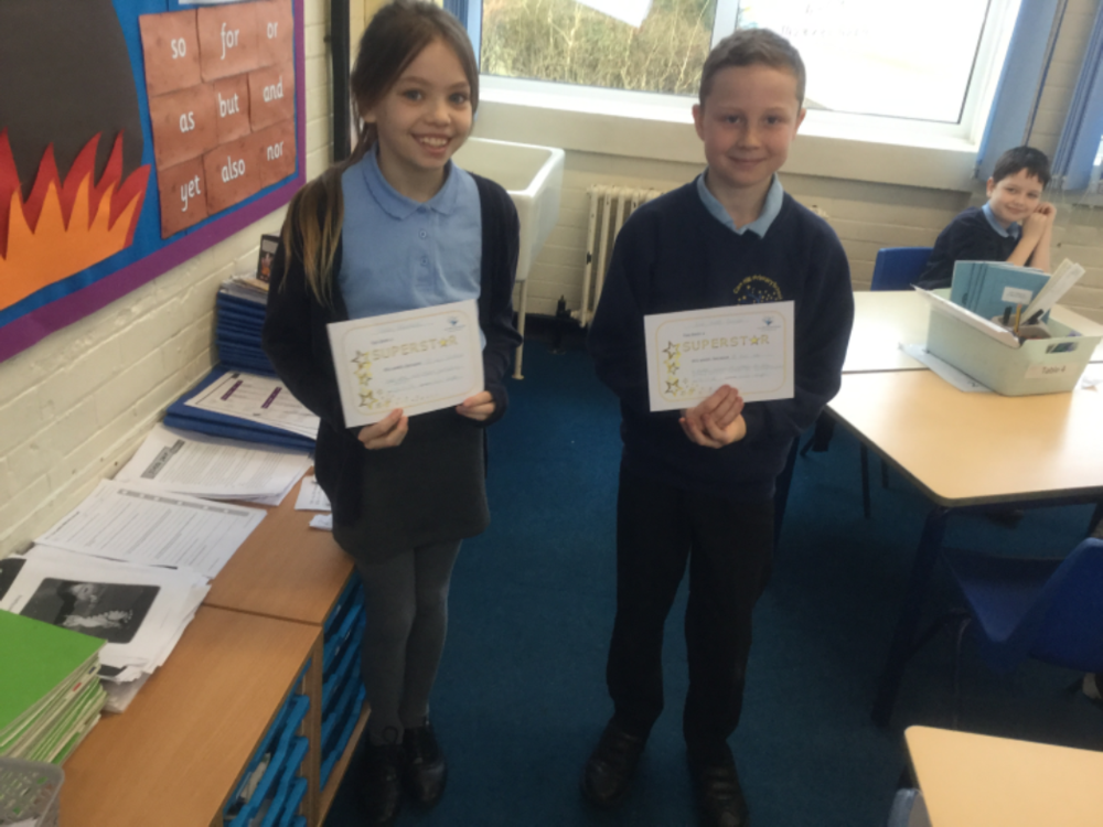 Well done to our superstars of the week, Callie and Zak! Keep up the hard work!  -