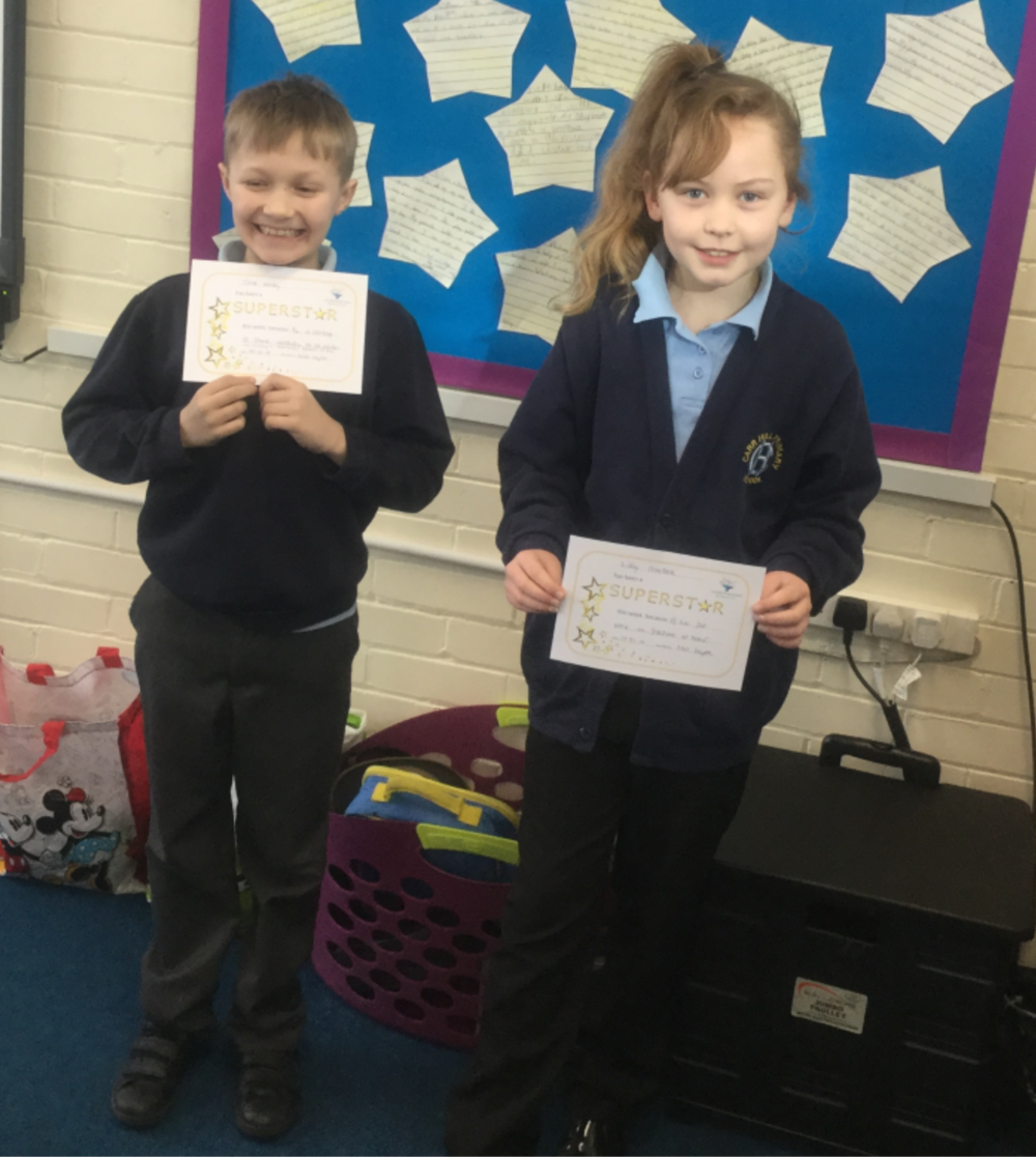 Well done to this weeks superstars, Oliver and Lilly! Keep up the hard work!  -