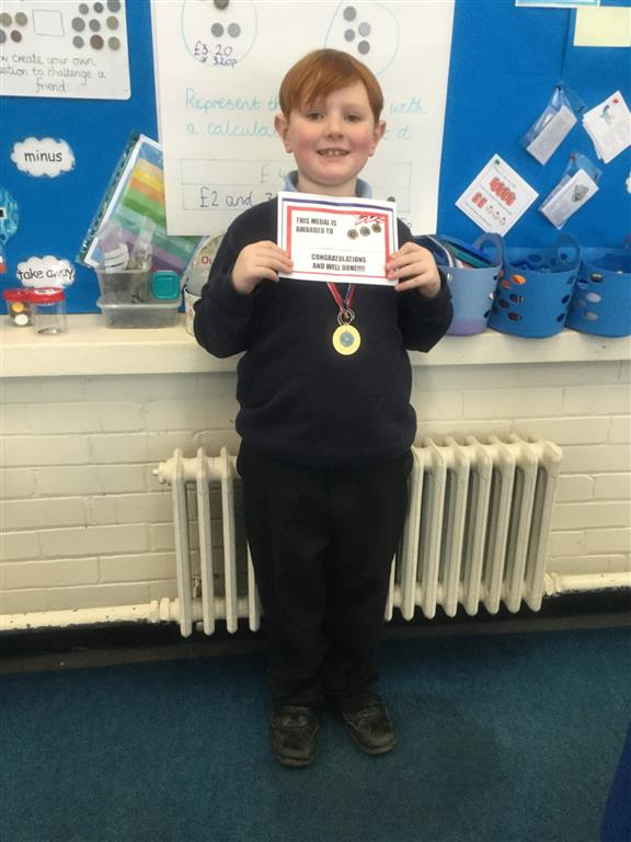 Our 'Champion of the Week' is Calum for his positive attitude in class and outstanding manners at all times.  Well done Calum! -