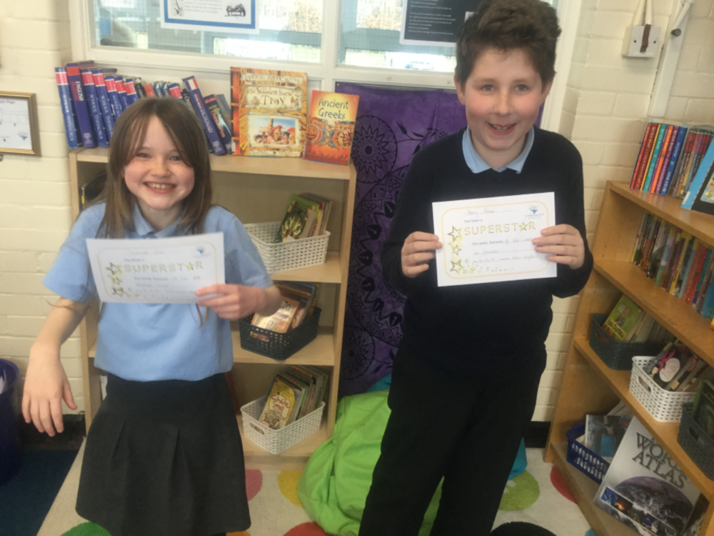 Well done to our superstars of the week—Scarlett and Harry! They have showed consistent hard work and determination when working with fractions this week! Keep up the hard work! -