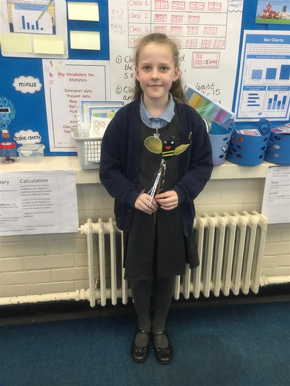 Our new 'Spelling Bee Champion' is Ava as she scored 8/8 on her spelling test, increasing her score by 6. Well done Ava! -