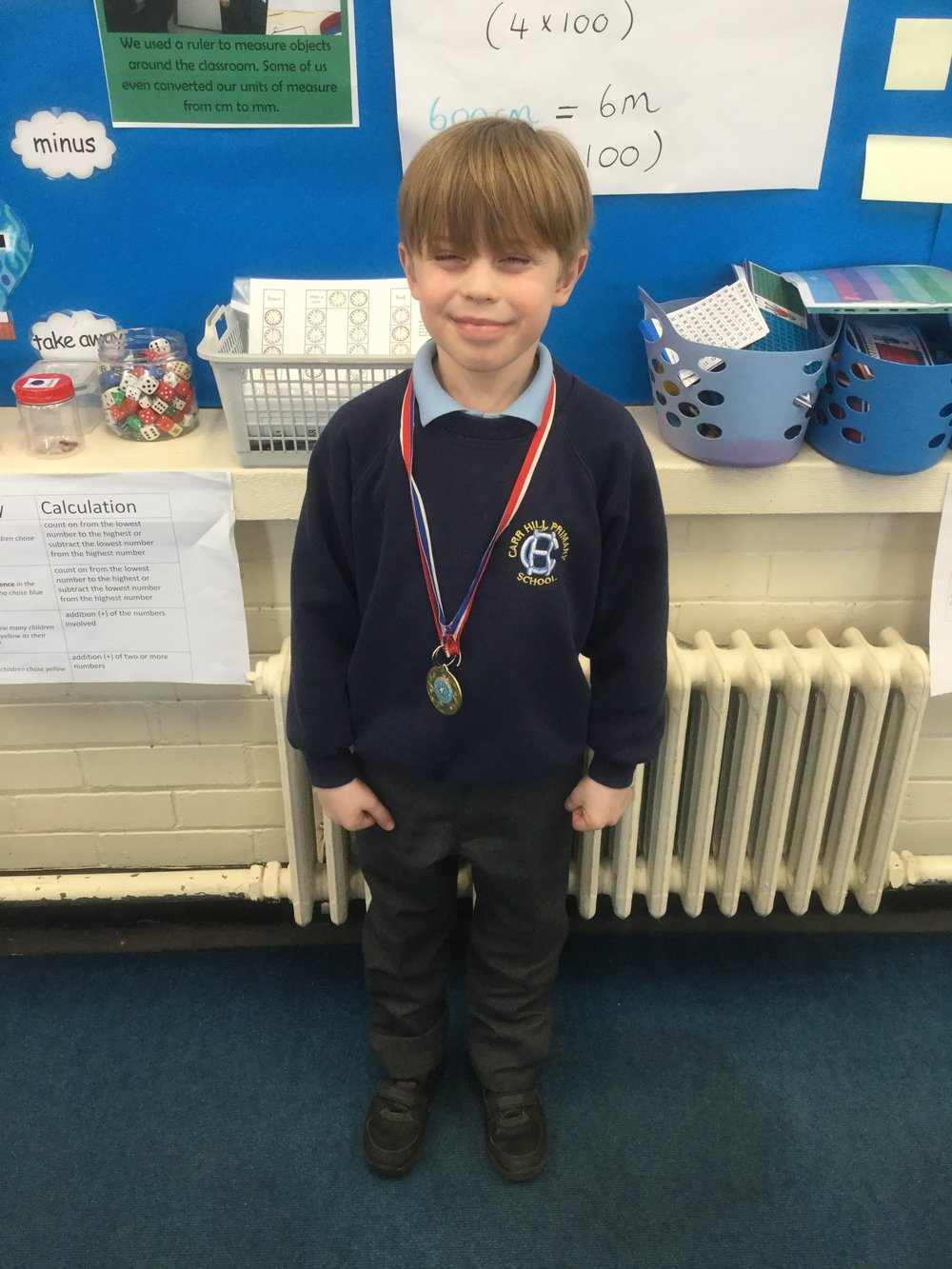 Our 'Champion of the Week' is Samuel for his consistent hard work and effort in all lessons. Keep it up Samuel! -