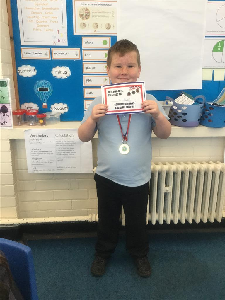 Our 'Champion of the Week' is Joel who has worked very hard to improve his writing and produced a lovely non-chronological report about white elephants. Well done Joel for all of your hard work, keep it up! -