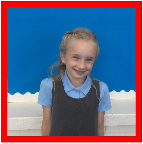 Our Champion of the Week is Amelia because she always has a smile on her face and has a fantastic attitude to her learning. She always listens and never stops trying! Well done, Amelia! -