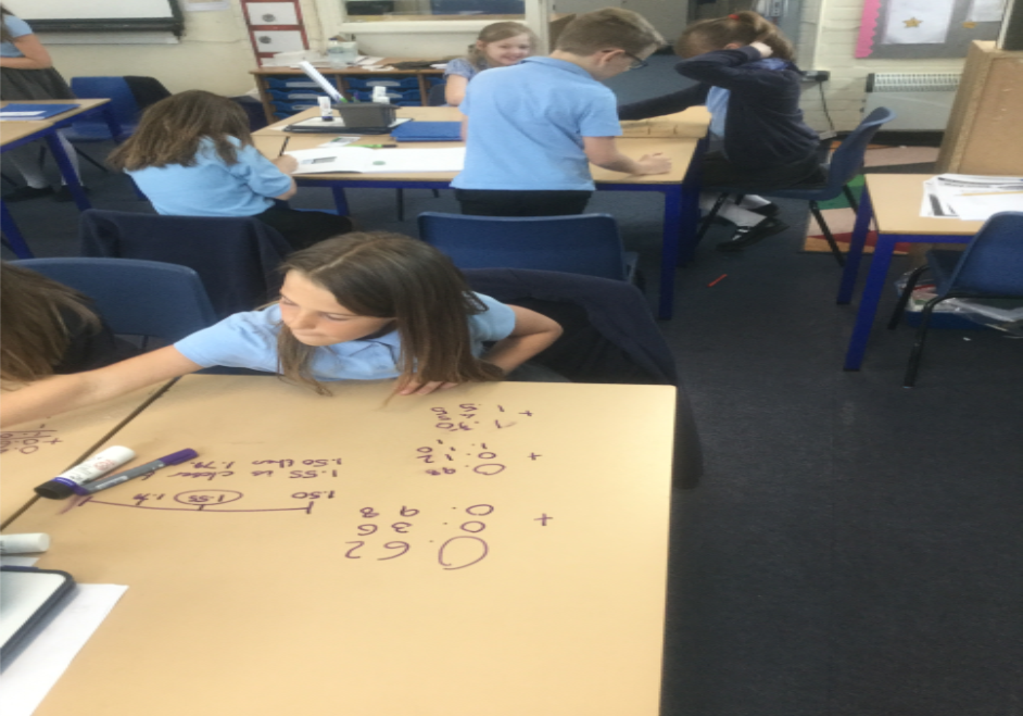 Maths: Our work with decimals continued and we began to put our fluency skills to the test by thinking deeply with a reasoning investigation. We had lots of fun creating our own decimal numbers using dice. -