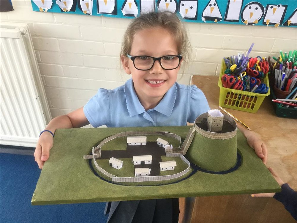 Olivia brought in her homework she completed over half term which was an amazing castle! It must have taken her a long time. She was able to tell the class all the features her castle had! Well done Olivia -