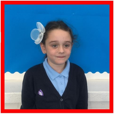Our Champion of the Week is Daisy. Recognition for showing care and concern about the school environment and how litter might adversely affect animals. She is working with a friend to try to raise awareness around school. Well done, Daisy! -