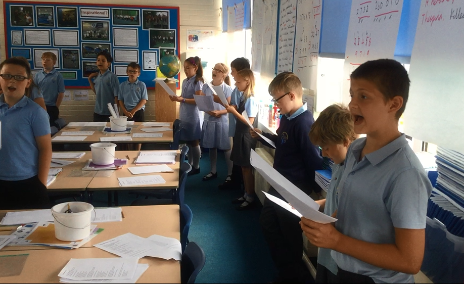 A Night at the Movies: We have begun to get to grips with the songs for our production. We expect to rehearse with Year 6 next week. -