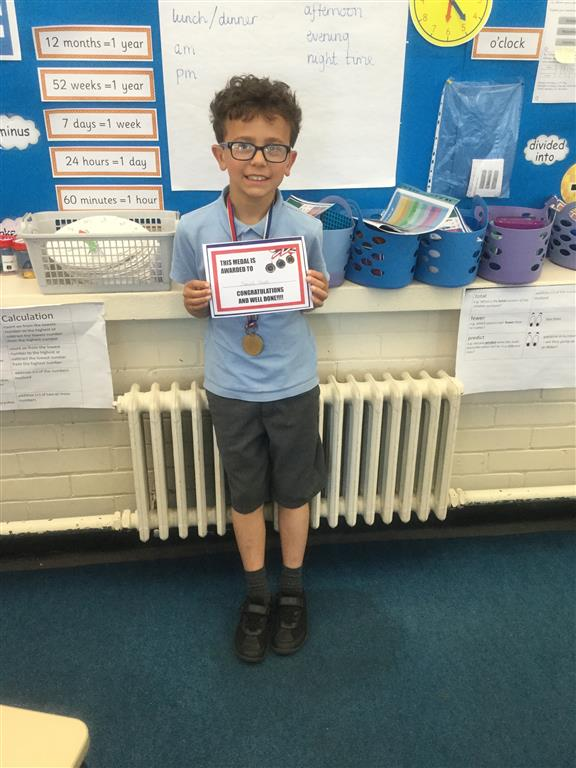 Our 'Champion of the Week' is Daniel, who has been working really hard on his handwriting and trying to ensure his letters are of equal size. Well done Daniel, keep up the hard work! -
