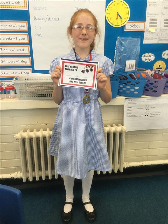 Our 'Champion of the Week' is Poppy, who has really worked hard to improve her comprehension skills, and can now select the key words in a question and then scan the text to find the answer. Well done Poppy! -