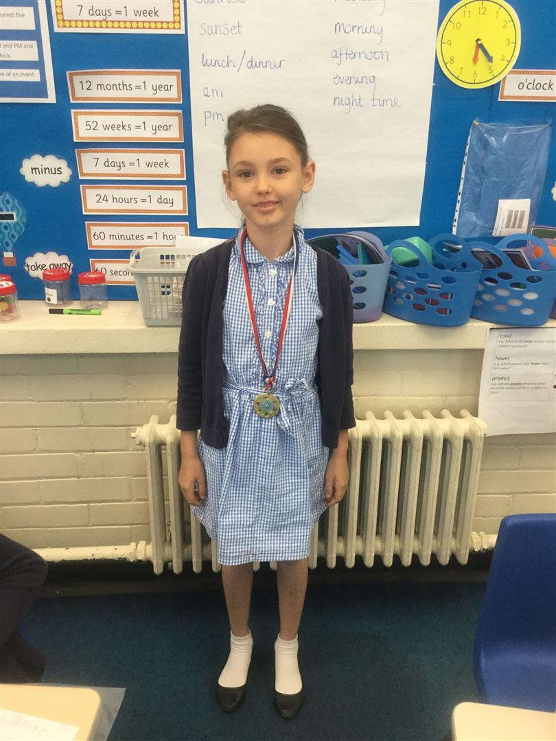 - Agnes is our 'Champion of the Week' for her continuous hard work in English, particularly reading. She made astounding progress in a recent reading comprehension test, well done Agnes!