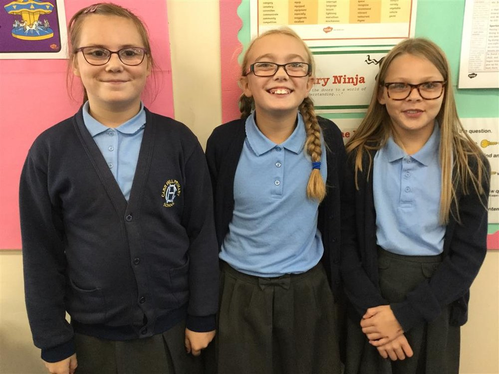 Class helpers - Hollie, Neisha and Phoebe -