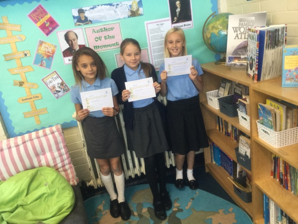 Well done to our superstars of the week—Abi, Marcelina and Tamzin! Keep up the hard work! -