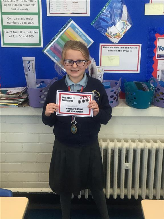 Our 'Champion of the Week' is Megan for her consistent positive mindset and progress across the curriculum. Well done Megan! -