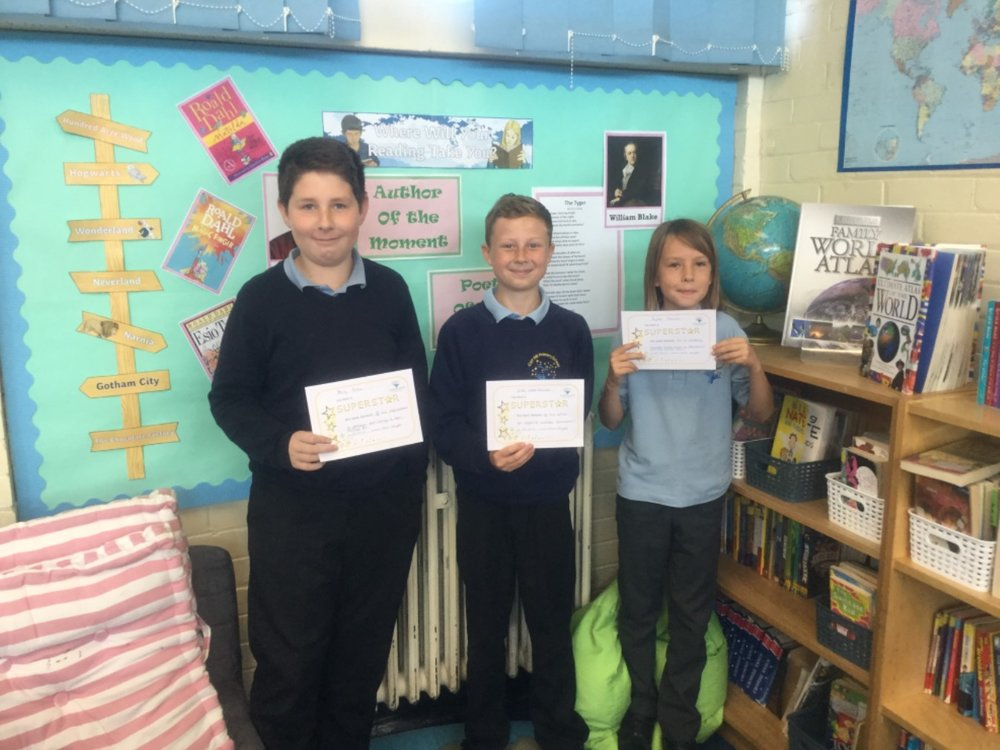 Well done to our superstars of the week—Zak, Harry and Taylor! Keep up the hard work! -
