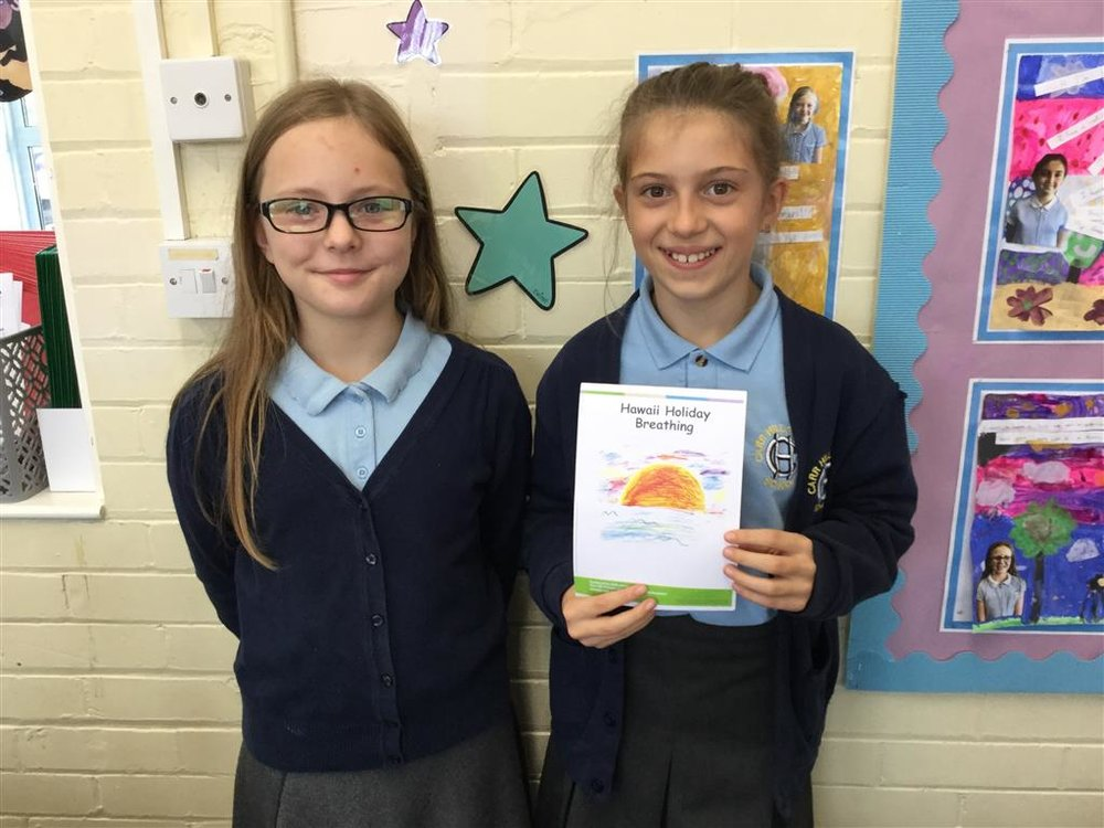 Meet our new class breathing ambassadors for our class. They are doing a fab job at calming the class down after lunchtimes with their breathing techniques. -