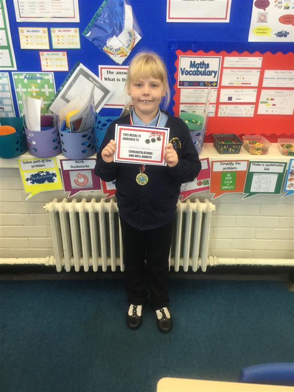 Our 'Champion of the Week' is Isabelle, who shows a positive mind-set, enthusiasm and always tries her best every lesson. Well done Isabelle! -