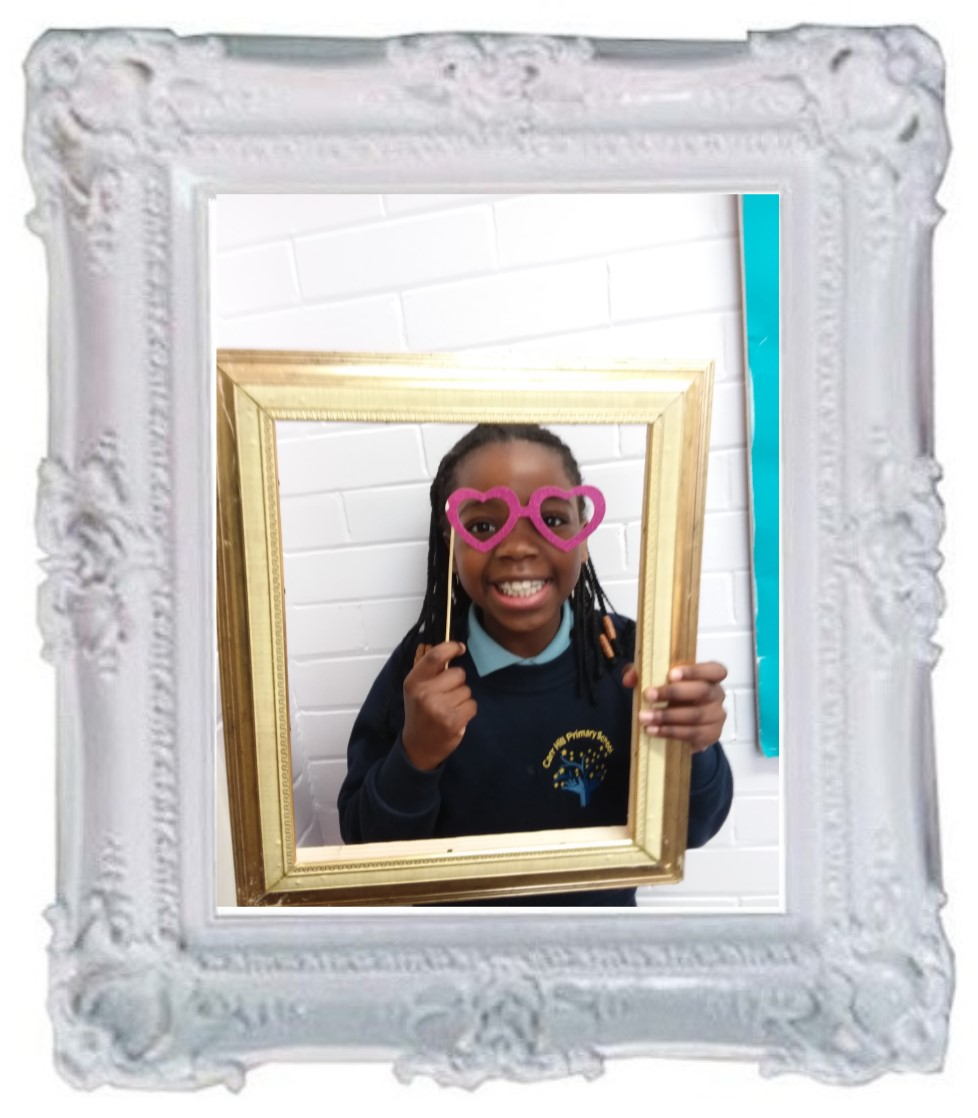 Chisom came to tell me about how she has worked so in all her lessons this week. Mrs Thompson was particularly proud of the effort she put into her Maths work and I was impressed when I worked with the class on a reading activity. Keep it up Chisom. -