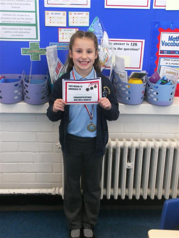 Our 'Champion of the Week' is Scarlet for her continued hard work and effort in lessons. She has been listening carefully to instructions and shows a positive mind-set when she struggles on an activity. Well done Scarlet! -