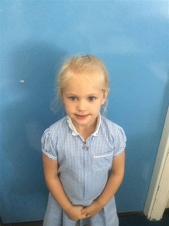 Our Maths Star is Jorgia. She always listens really well, tries her best and is very resilient! -