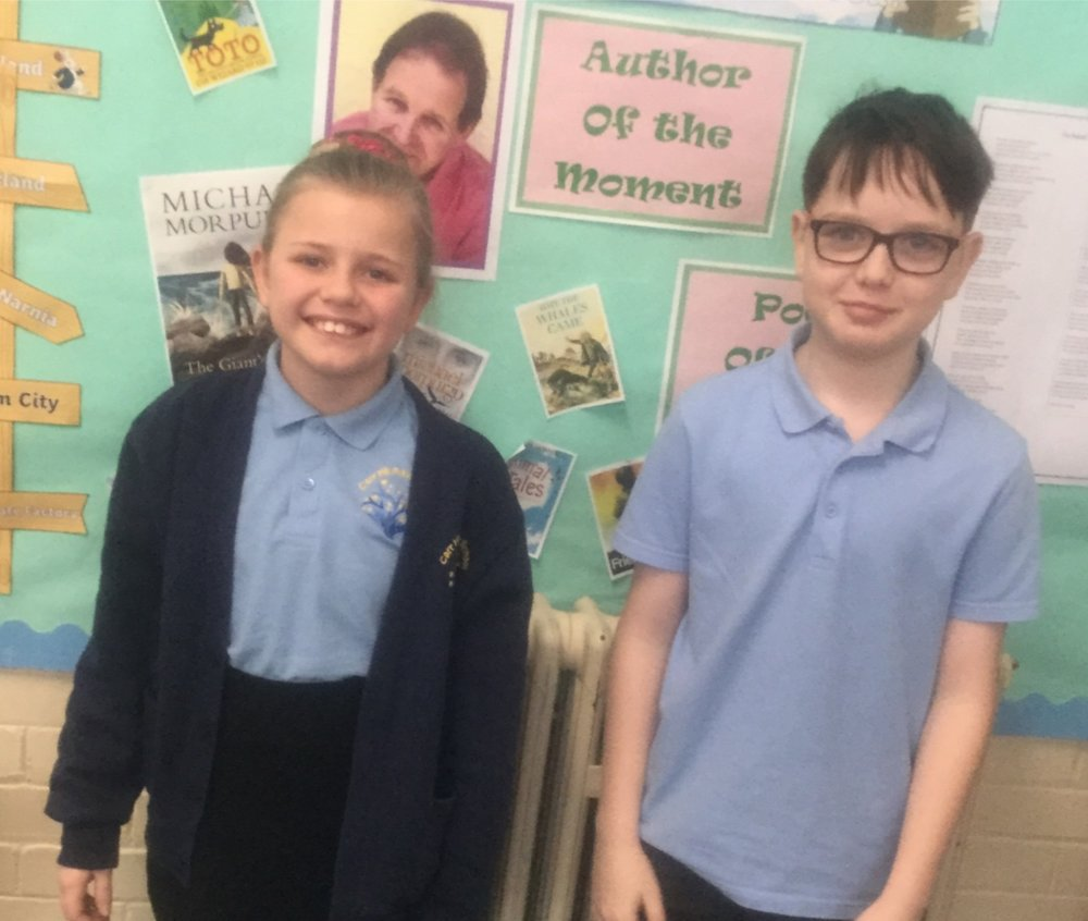 Alex, Liv and Callie (who was absent for the picture) were awarded superstars of the week! All three of them are motivated, engaged and kind members of the class and should be proud of themselves! -