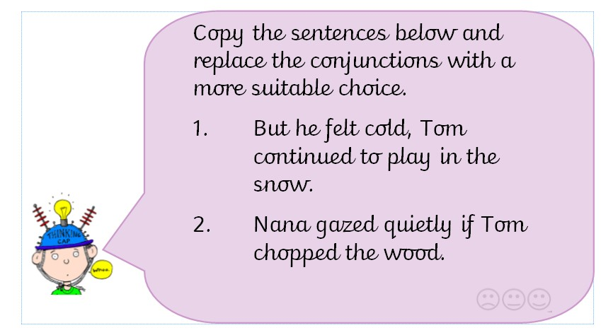 Which conjunctions would you use? -