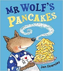 "This week we celebrated both Pancake Day and World book day and managed to find the perfect book to base our learning around… ""Mr Wolf's Pancakes"" by Jan Fearnley. -"