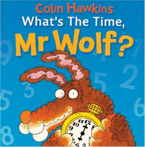 "We has a maths focus this week in Nursery but this didn't stop us enjoying another wolf story. This time we based our learning around the book ""What's the time Mr Wolf?"" by Colin Hawkins. -"