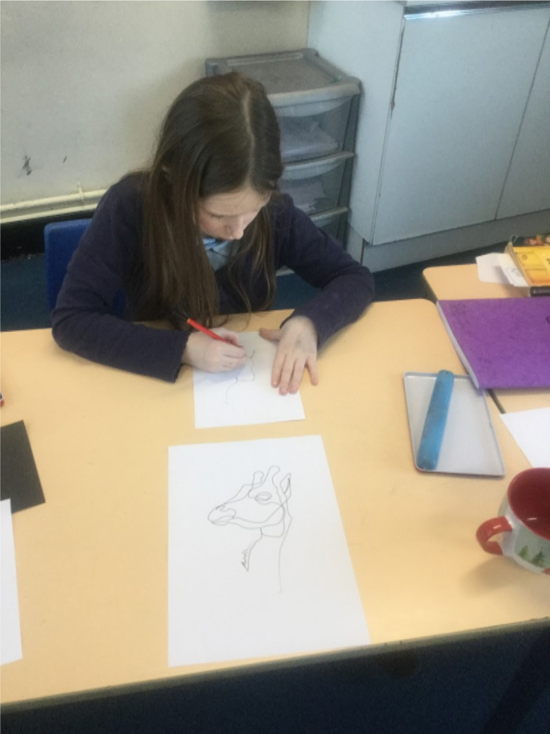 In art we spent time drawing various animals using the new drawing techniques that we have learnt. Everyone really took their time to ensure they produced a lovely piece of work! The outcomes were really impressive! -