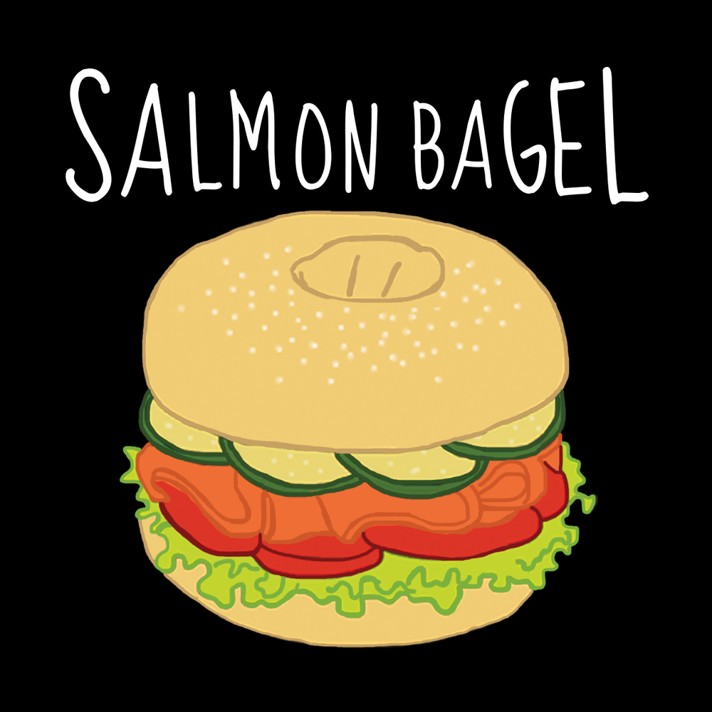 Saumon en bagel